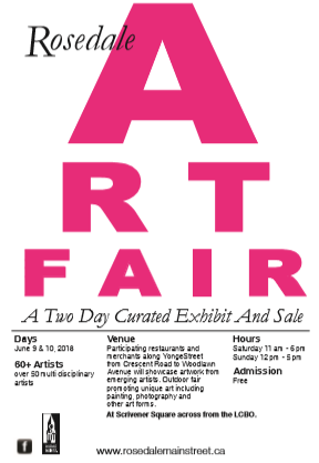 Rosedale Art Fair 2018
